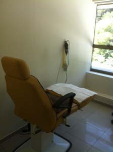 "the room with the ""dentist chair"". Notice the tool hanging on the wall.  it had a mini sander on the end"