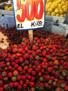 Fresh strawberries.  A kilo is about 2.2 pounds and it was 500 pesos which is about $1