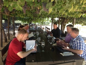 Lunch at the vineyard wine tour