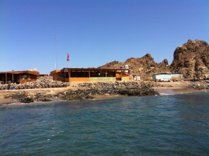 The restaurants at the beach.  The food was delicious.