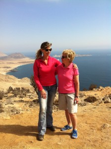 Me and Mom after we walked 4 km to get to the top