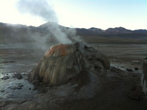 One of the geysers