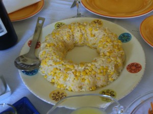 A corn and rice dish